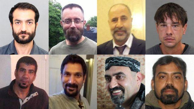 به ترتیب از بالا چپ: سلیم اسن، اندرو کینزمن، مجید کیهان، دین لیزوویک، کیراشنا کومار، عبدالبصیر فیضی، اسکندراج ناوارتنم و سروش محمدی