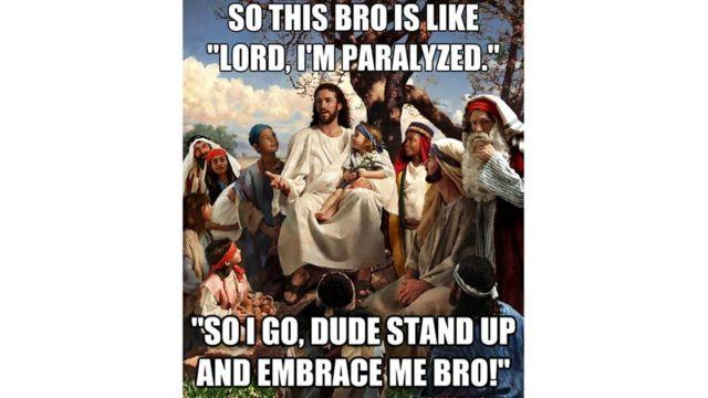 Многие мемы на религиозные темы сначала носили шуточный характер, но люди стали использовать их для возбуждения споров по поводу веры и утверждения своих убеждений