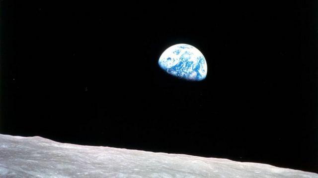 Foto tirada pela Apollo 8
