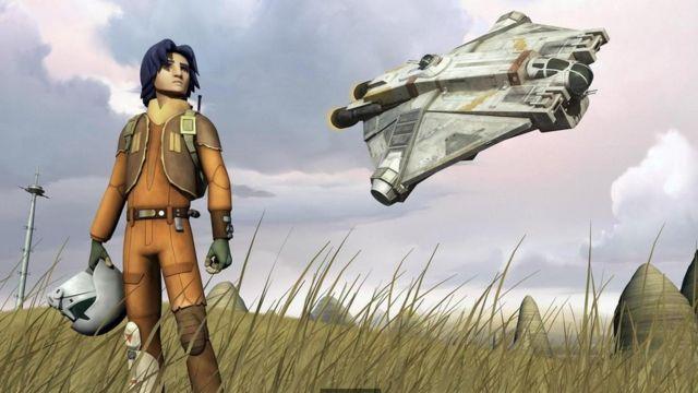 "Una escena de ""Star Wars Rebels"", una serie televisiva"