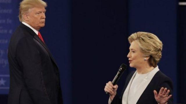 Hillary Clinton na Donald Trump mu kiganiro kigira kabiri
