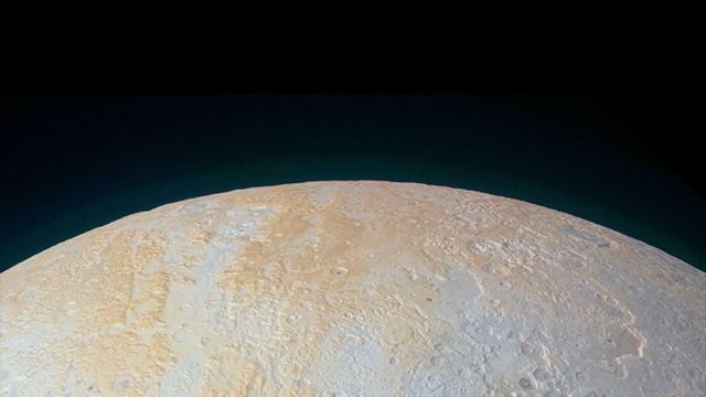 Pluto image sent by New Horizons