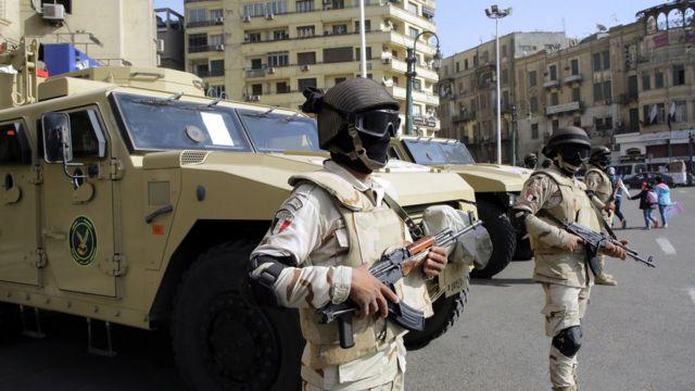 قوات من الأمن بميدان التحرير في ذكرى ثورة 25 يناير