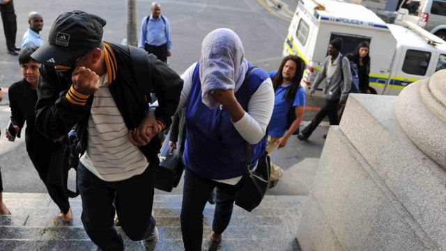 Lavona Solomon arrives at the Cape Town High Court on February 29, 2016