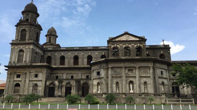 Catedral vieja de Managua.