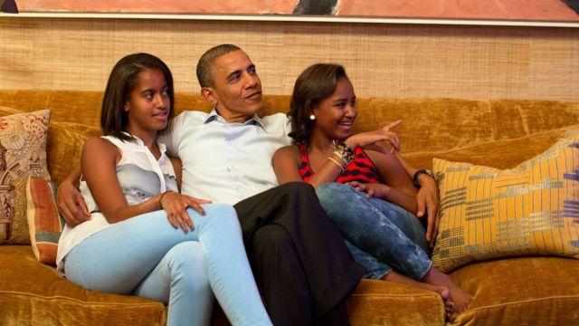 Obama na mabinti wake
