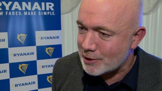 David O'Brien from Ryanair said the firm was hopeful it could open further routes