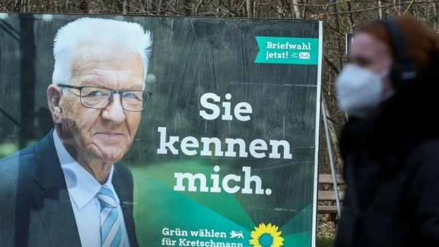 An election poster showing Winfried Kretschmann