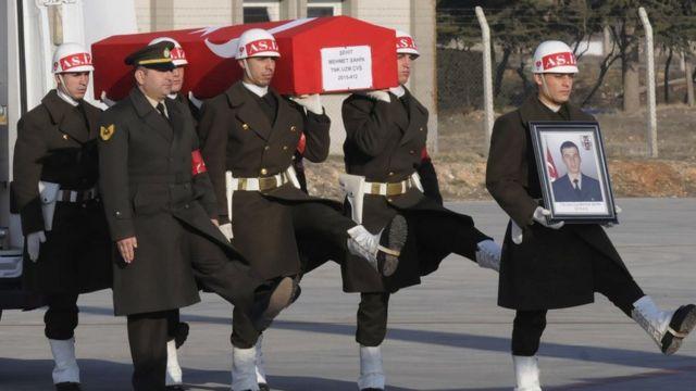 الرئيس الروسي قدم تعازيه لنظيره التركي بعد مقتل الجنود