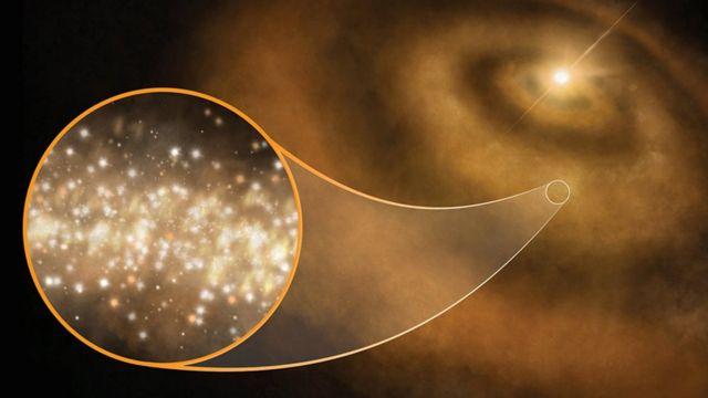 Ilustración de nanodiamantes