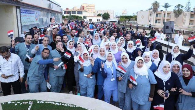 الفريق الطبي للحجر الصحي في مدينة مطروح