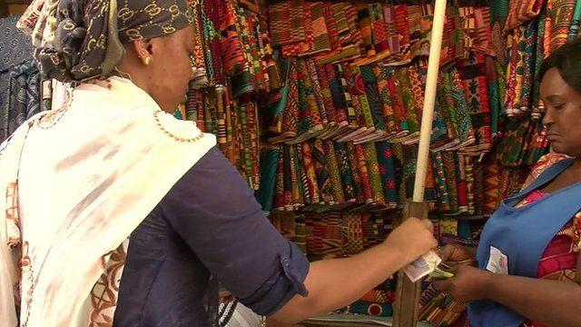 Market stall in Ghana