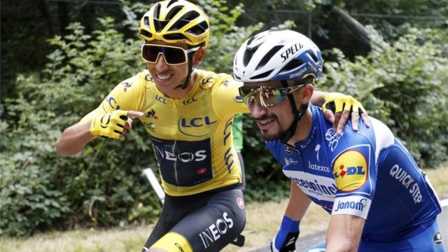 Egan Bernal y Julien Alaphilippe