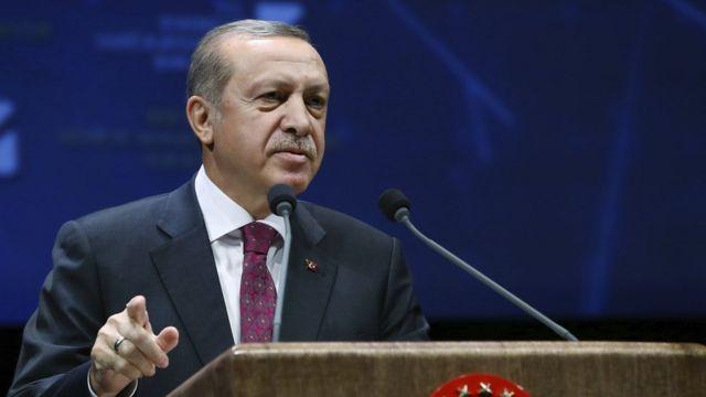 رجب طيب إردوغان الرئيس التركي