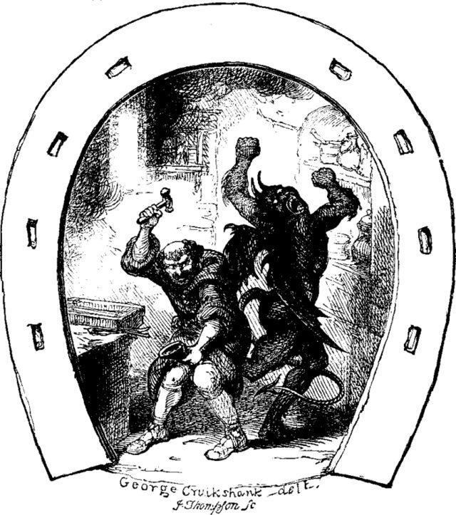 Святой Дунстан и черт