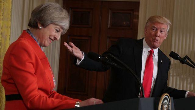 Theresa May və Donald Trump