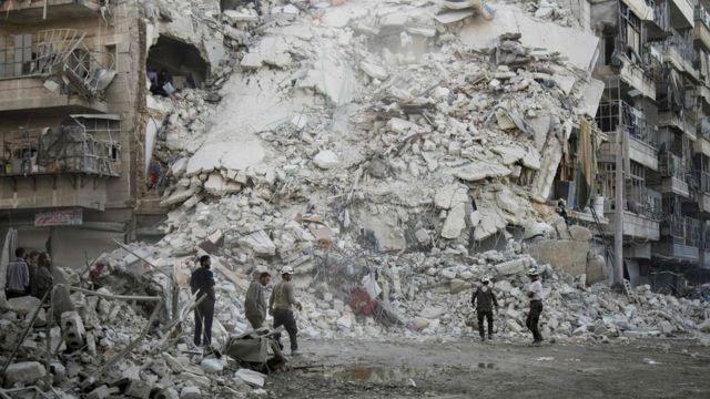 Алеппо чыгышы бомба чабуулунан кийин