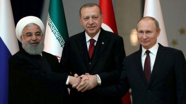 Putin, Rouhani e Erdogan.