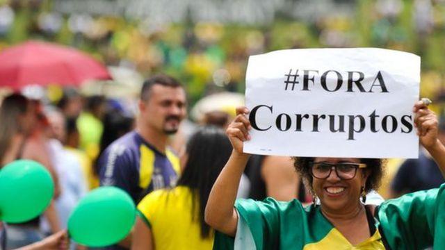 Protesto contra corrupção em Brasília