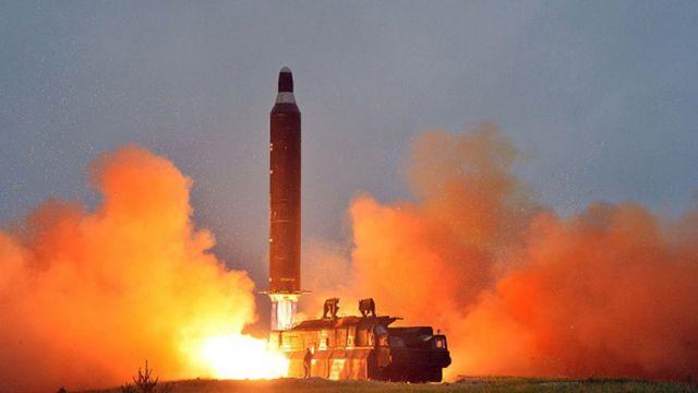 เกาหลีเหนือปล่อยขีปนาวุธ