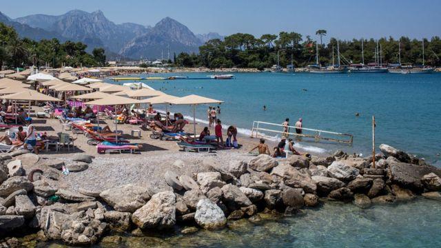 Türkiye'de bir sahil