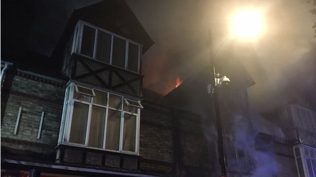 Cambridge flat fire sees homes evacuated
