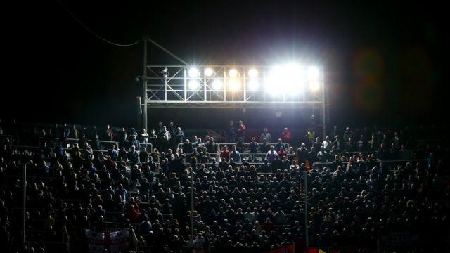 Used car batteries may power football stadium lights