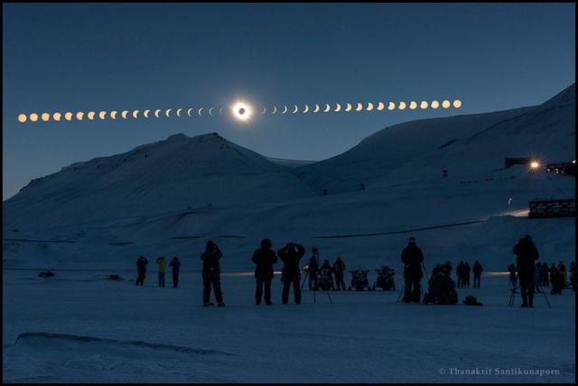 Eclipse sobre Svalbard, Noruega