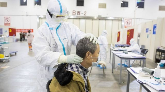 Paciente com coronavírus