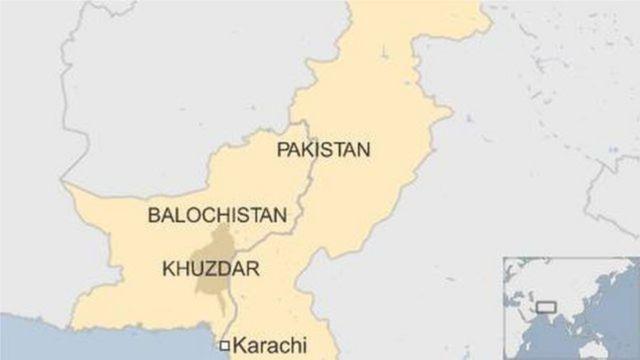 Khuzdar, Pakistan map