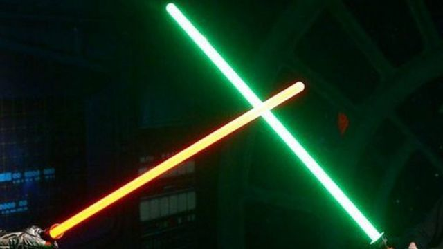 Armed officers challenge lightsaber man in Plymouth