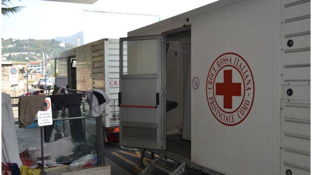 Posto de atendimento da Cruza Vermelha
