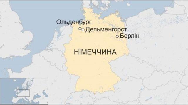 Карта Німеччини