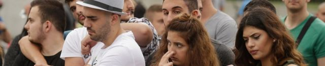 People mourn the victims of the Munich attack, 23 July