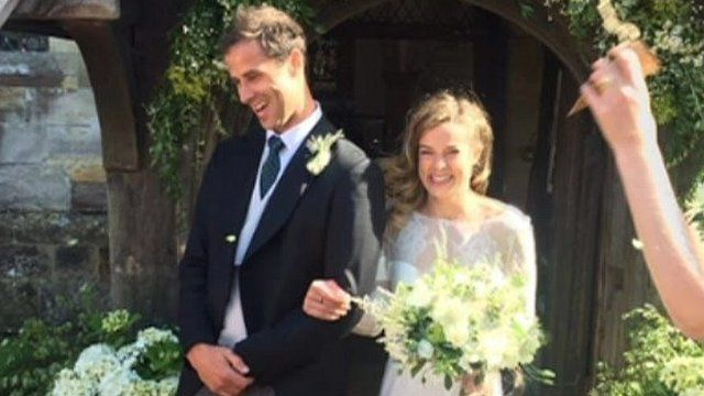 Milly Simmie with her husband Alastair