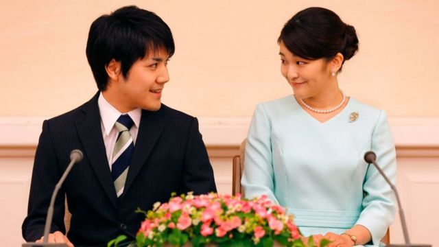 Princess Mako and Kei Komuro announced their engagement in 2017