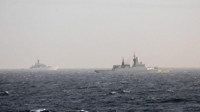 сопровождение российского корабля