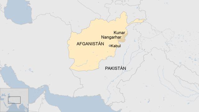 Presencia mayoritaria de EI en Afganistán.