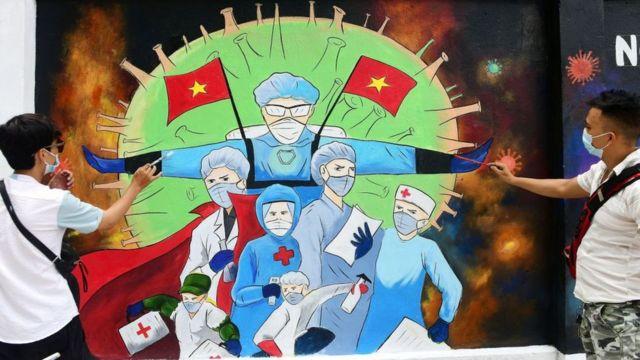 Tranh cổ động chống dịch Covid-19 tại Hà Nội, Việt Nam
