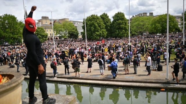 Protesters gather in Bristol