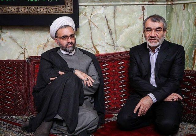 حسینعلی سعدی (چپ) در کنار عباسعلی کدخدایی، سخنگوی شورای نگهبان