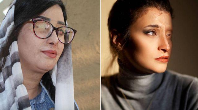 مرضیه ابراهیمی (راست) و سهیلا جورکش (چپ)، از قربانیان اسیدپاشیهای اصفهان، سخنان امام جمعه را نقد کردهاند
