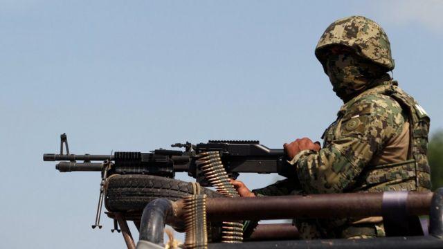 Un soldado en Tamaulipas