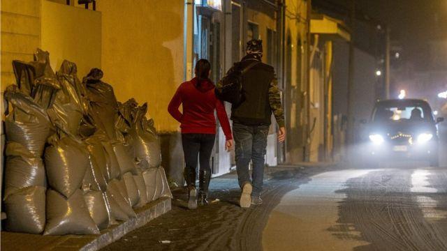 Bolsas de ceniza del Etna en Zafferana