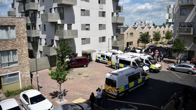 Allanamiento de residencias en el este de Londres