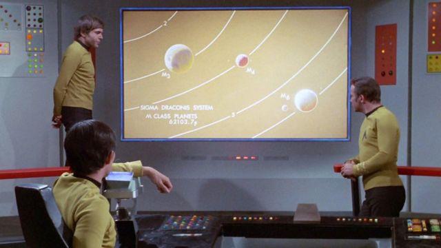 """Star Trek"" imaginó un mundo de pantallas planas gigantes."