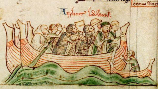 Высадка Людовика VIII в Англии.