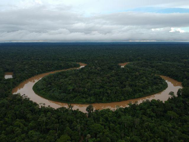Rio Itacoaí na região da Terra Indígena Vale do Javari, em Atalaia do Norte (AM);