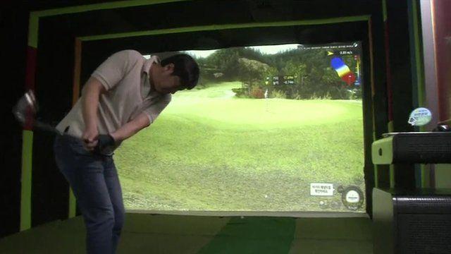 S. Korean golf simulator