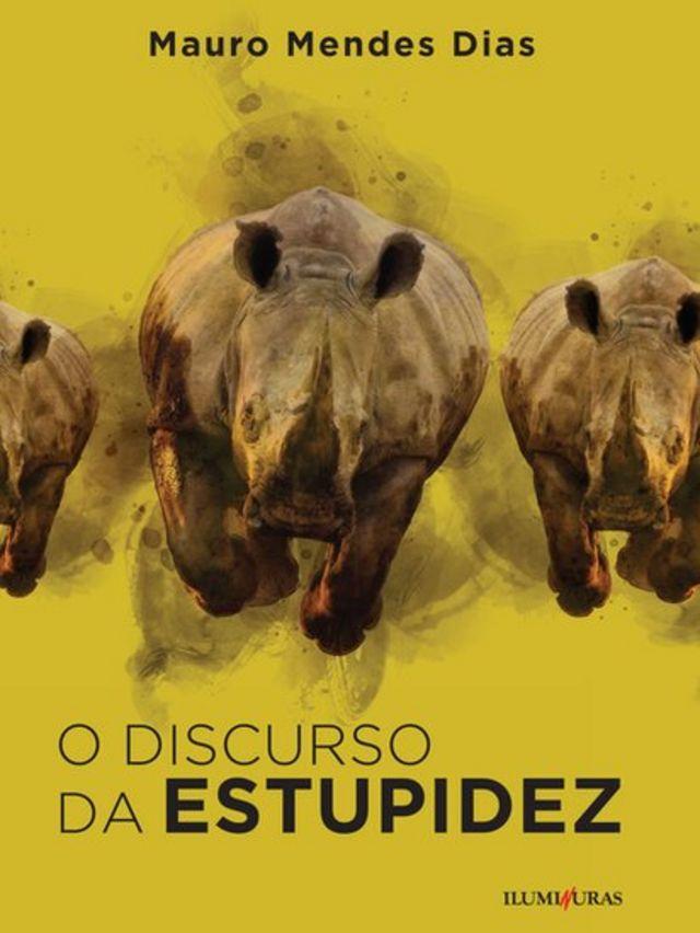Capa de livro com 3 rinocerontes retratados
